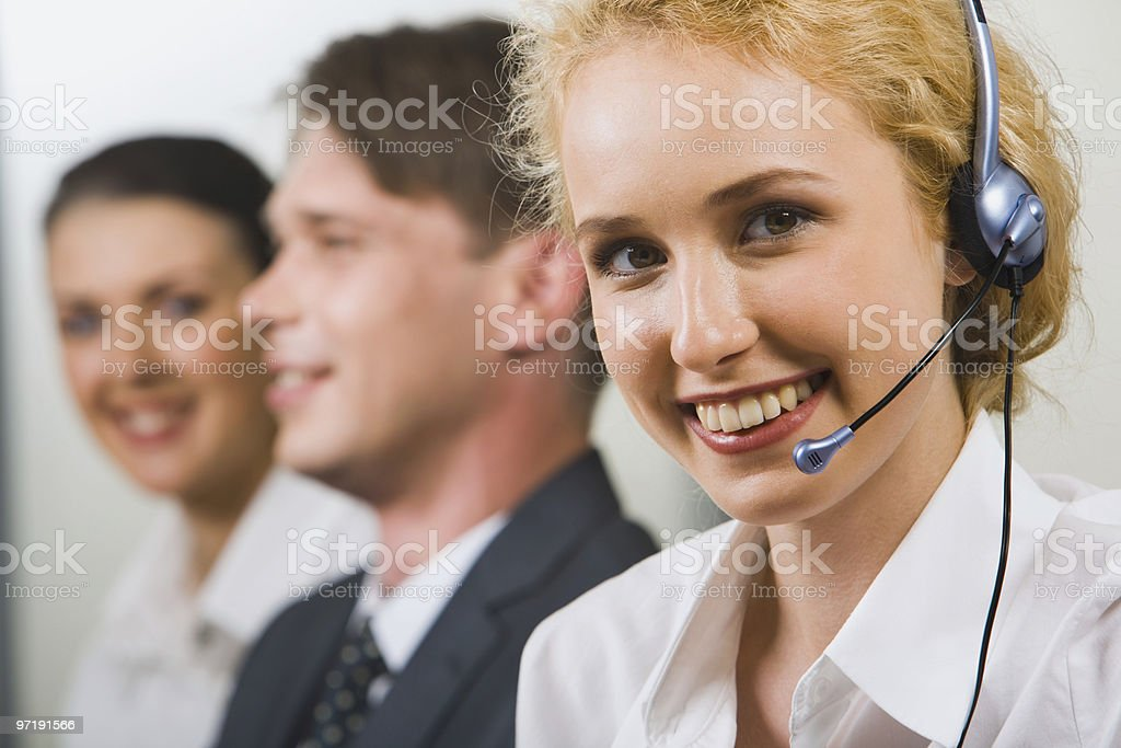 Friendly customer support service royalty-free stock photo