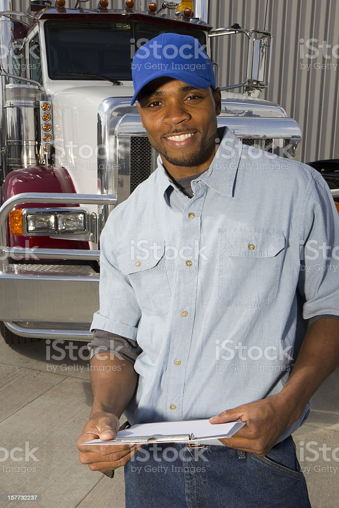 Friendly Delivery royalty-free stock photo