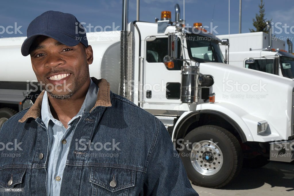 Friendly Driver royalty-free stock photo