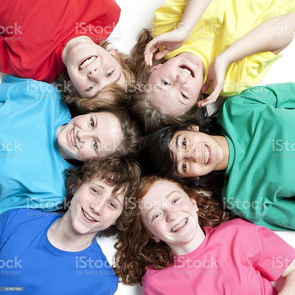 friendly faces royalty-free stock photo
