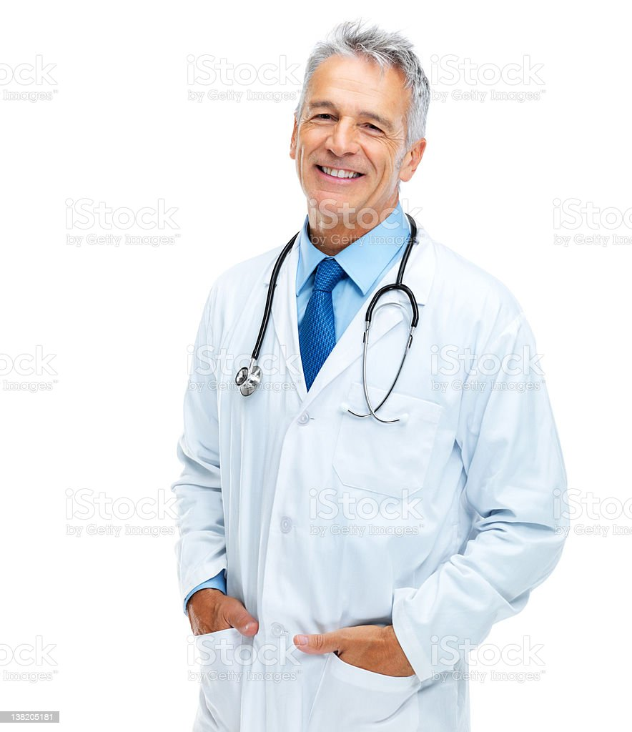 Friendly family doctor royalty-free stock photo