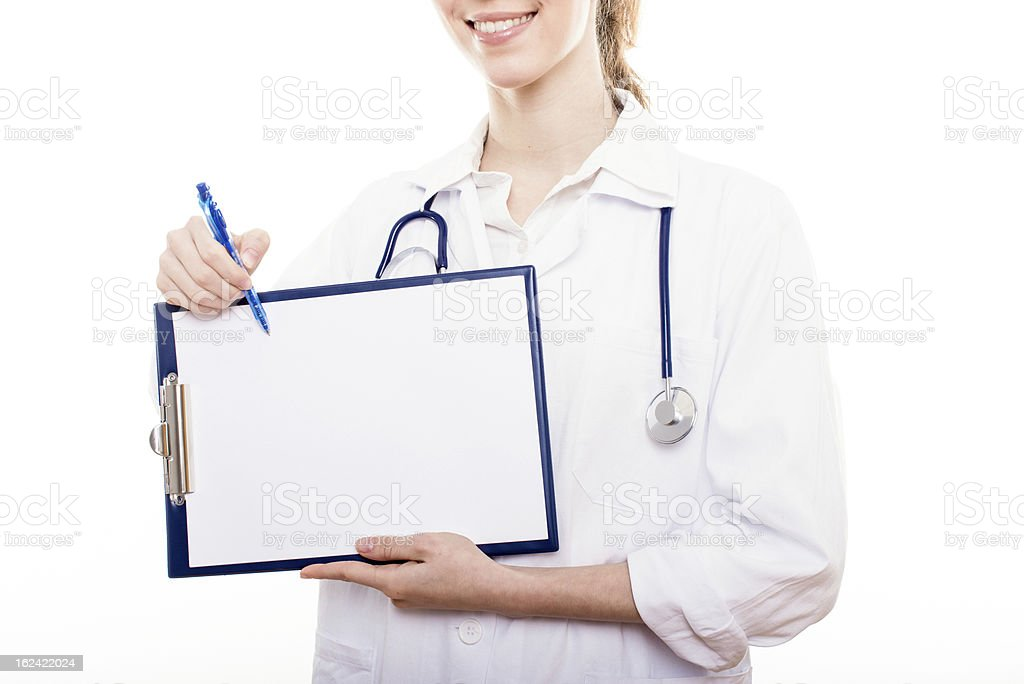 Friendly female doctor royalty-free stock photo