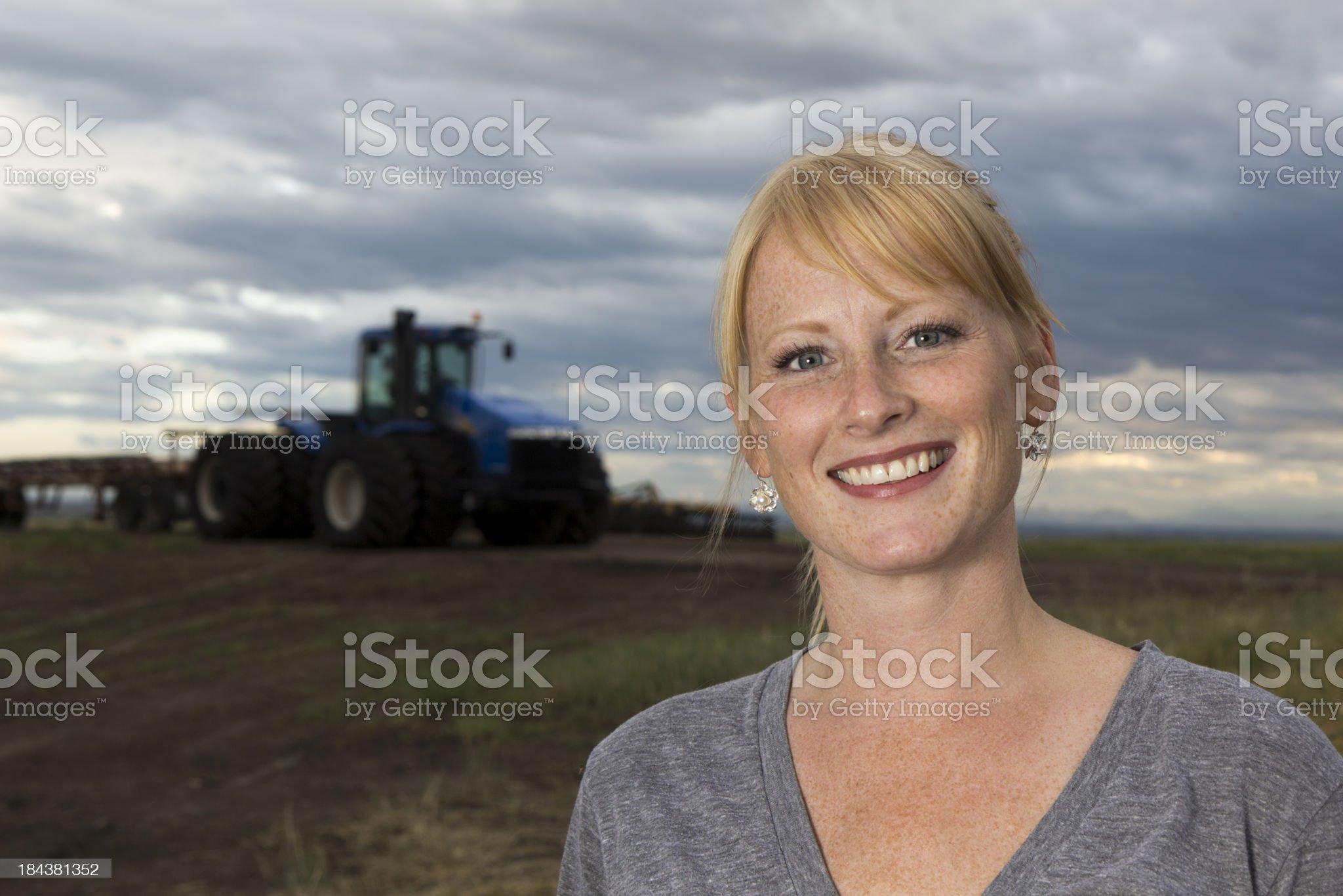 Friendly Female Farmer royalty-free stock photo