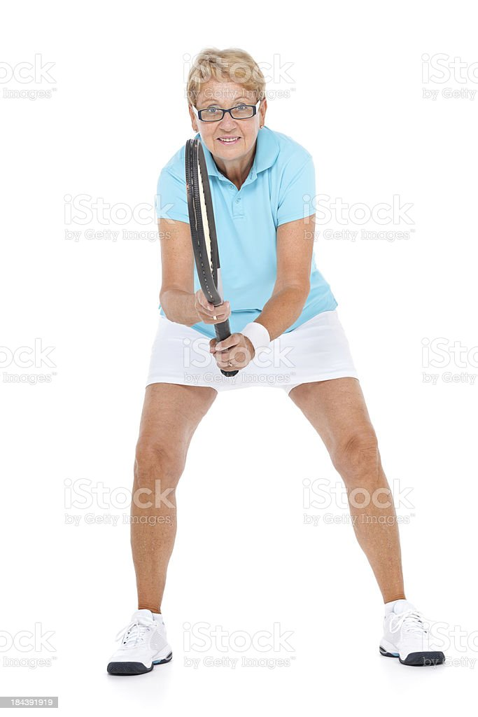 friendly female tennis player stock photo