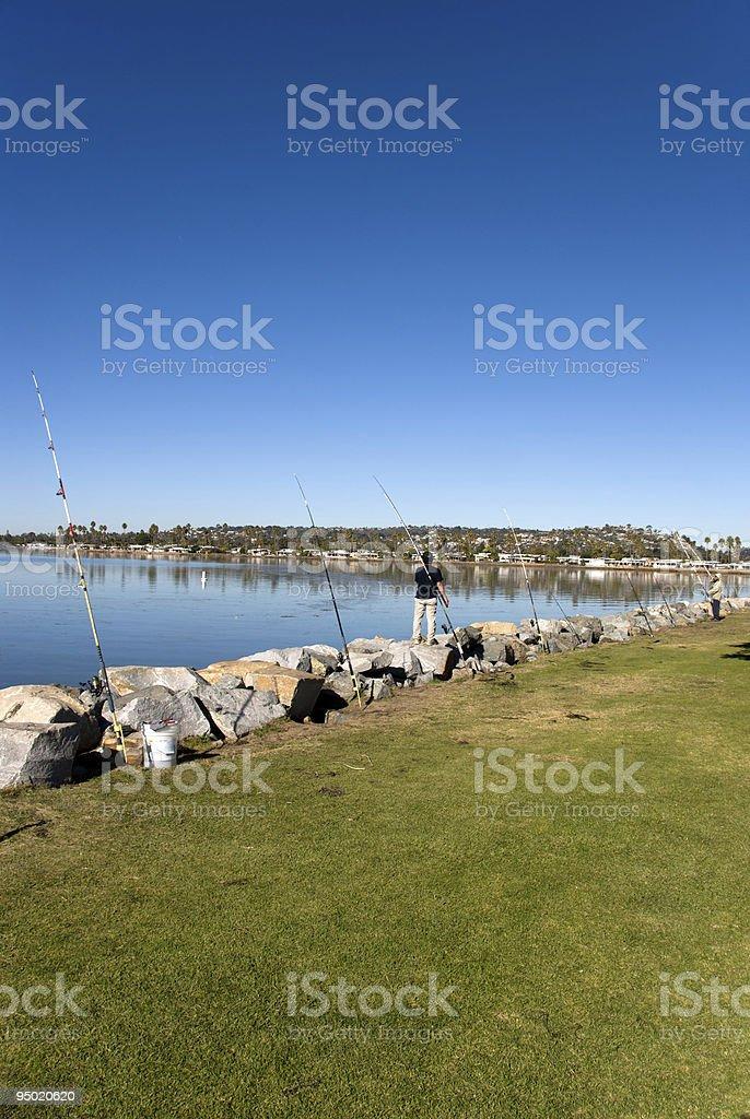 Friendly Fishing royalty-free stock photo