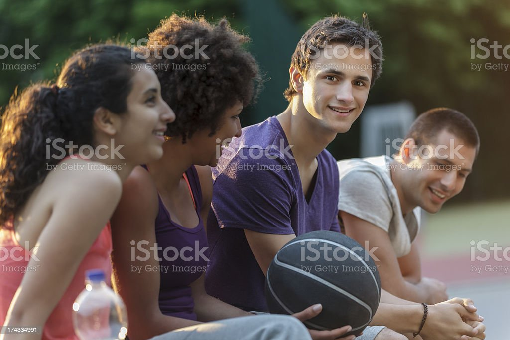 Friendly Game of Basketball royalty-free stock photo
