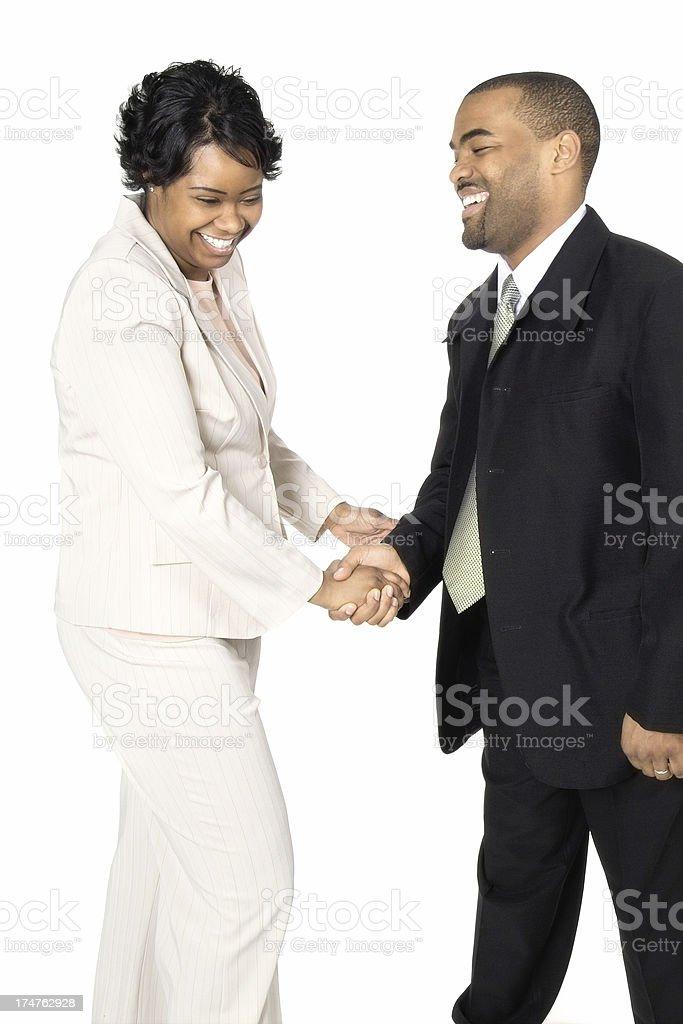 Friendly Handshake stock photo
