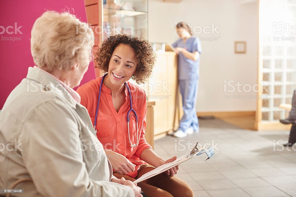 friendly healthcare professional stock photo
