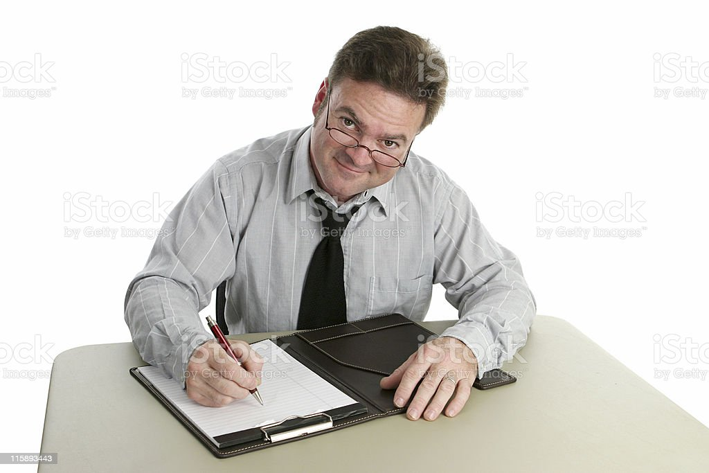 Friendly Interviewer royalty-free stock photo