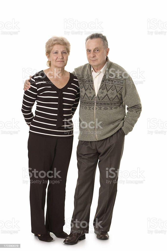 friendly mature couple royalty-free stock photo