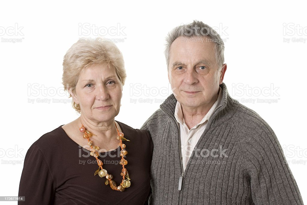 friendly mature couple royalty-free stock photo