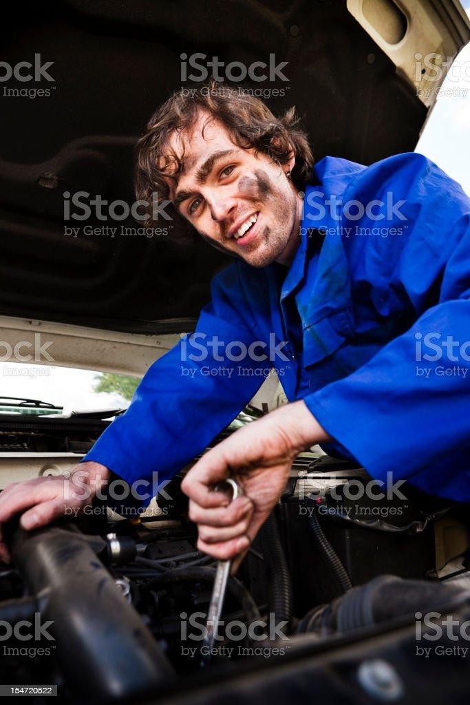 Friendly mechanic royalty-free stock photo