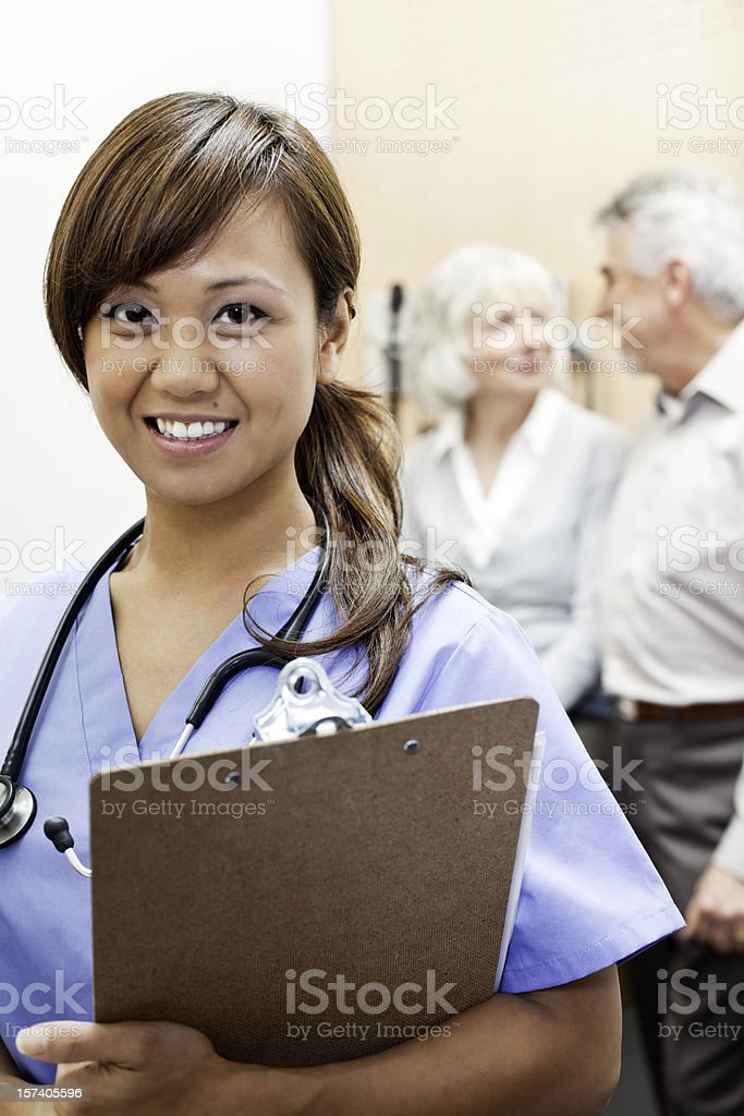 Friendly Medical Assistant royalty-free stock photo