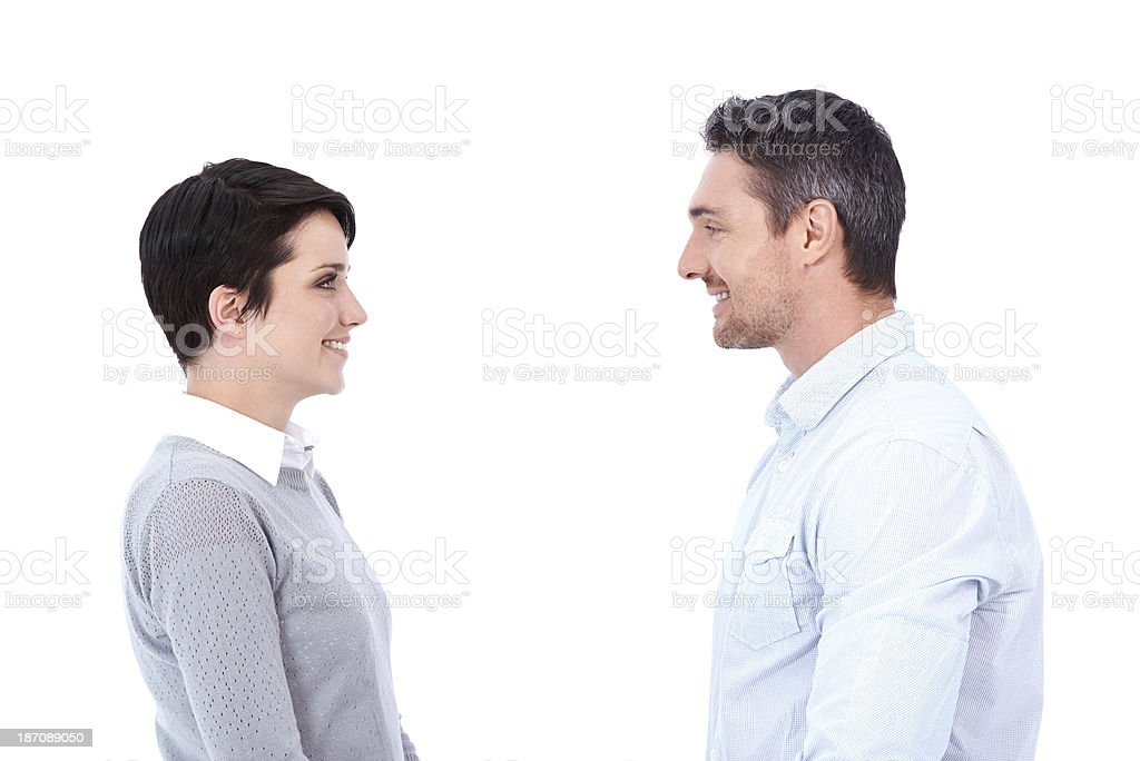 Friendly meeting royalty-free stock photo