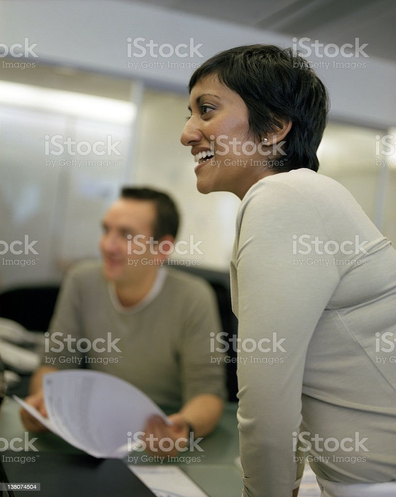 Friendly Office Scene stock photo