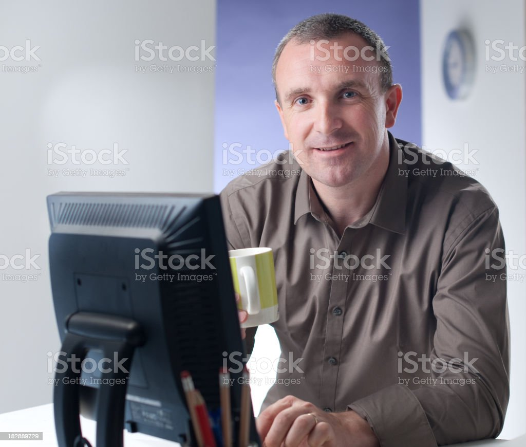 Friendly office worker royalty-free stock photo