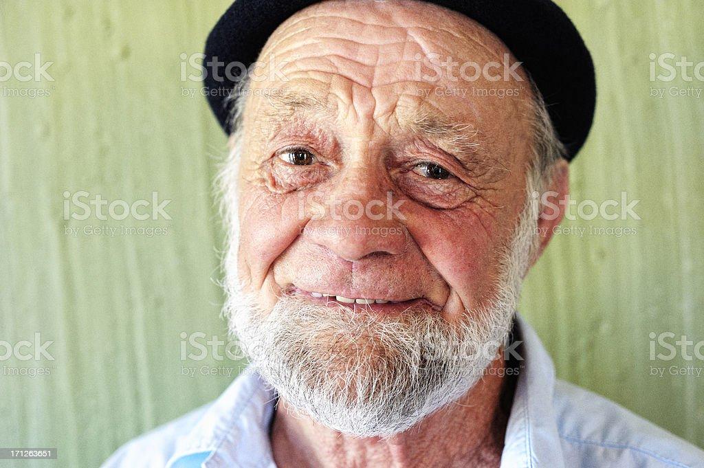 Friendly Old Man stock photo