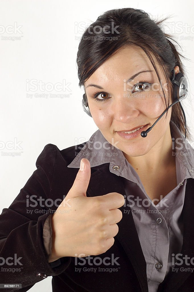 Friendly operator #12 royalty-free stock photo