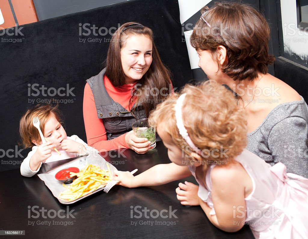 Friendly party royalty-free stock photo