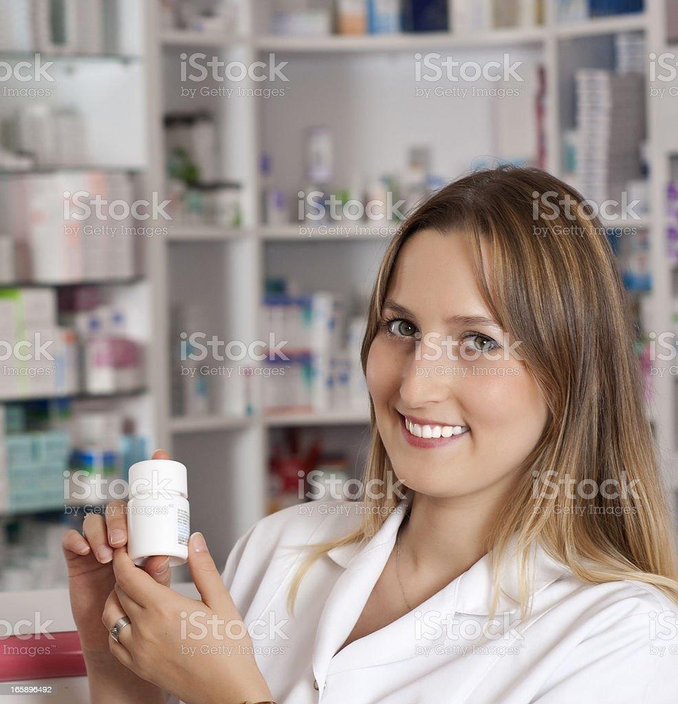 Friendly Pharmacist royalty-free stock photo