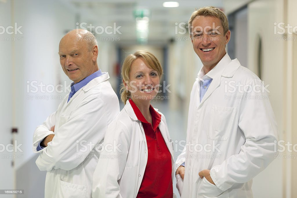 friendly physician team royalty-free stock photo