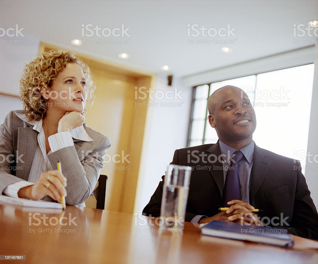 Friendly Positive Business Meeting royalty-free stock photo
