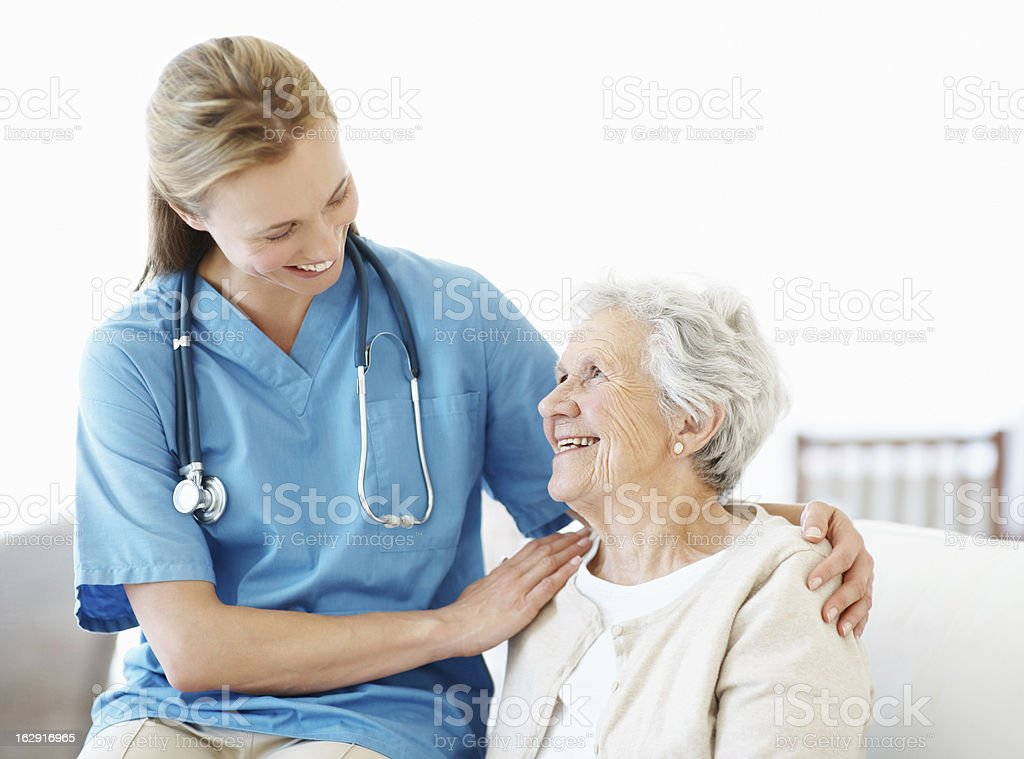 Friendly reassurance and comfort stock photo