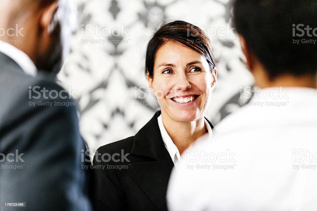 Friendly receptionist at hotel royalty-free stock photo
