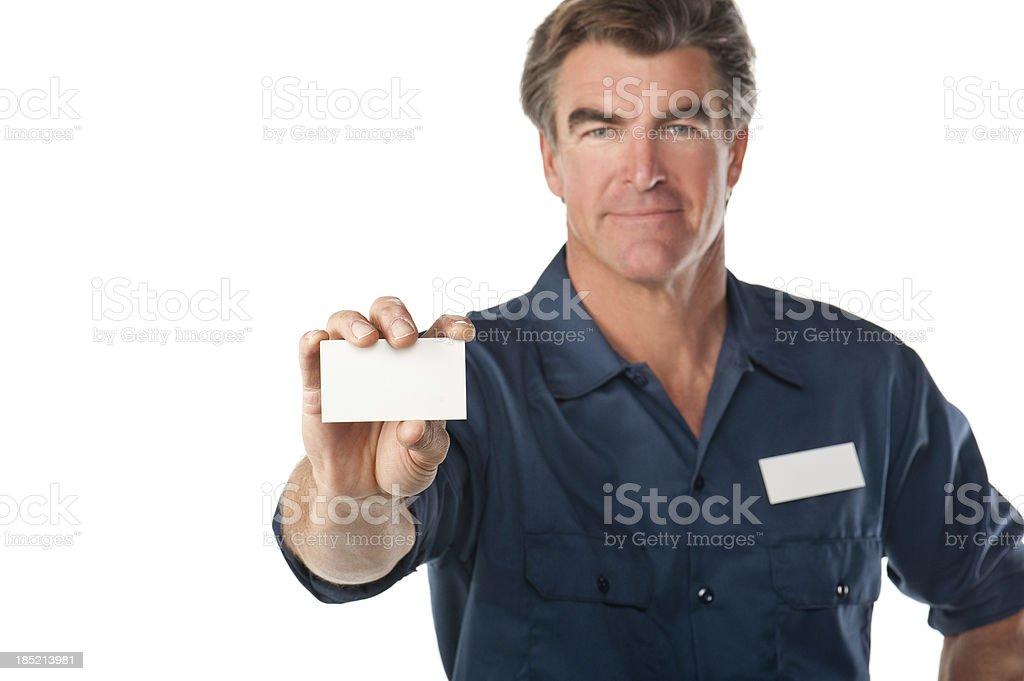 Friendly Repairman In Uniform royalty-free stock photo
