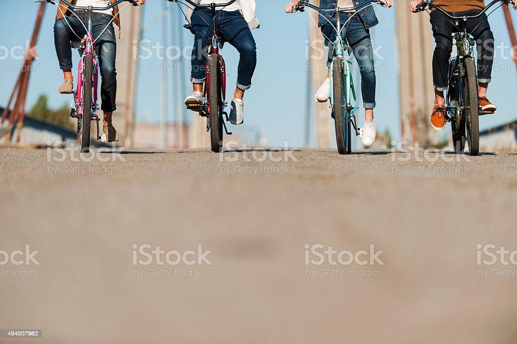 Friendly ride. stock photo