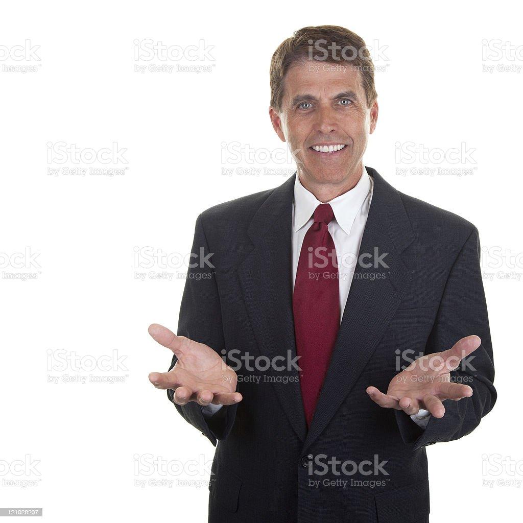 Friendly Salesman royalty-free stock photo