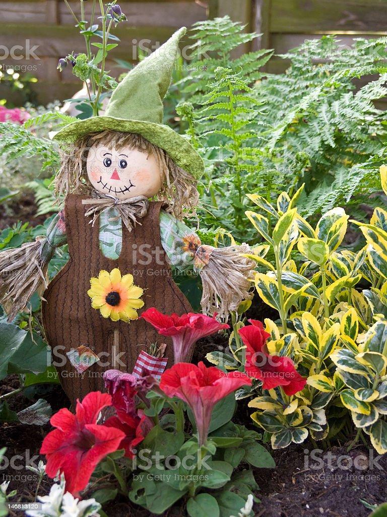 Friendly Scarecrow stock photo