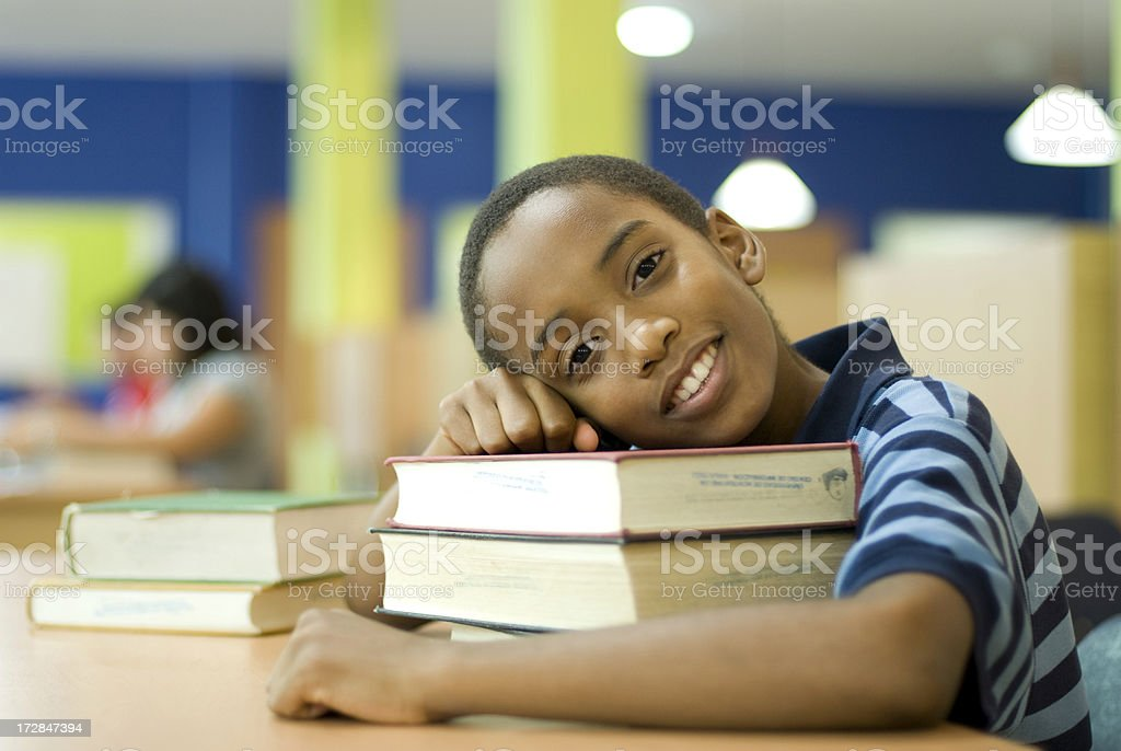 Friendly schoolboy royalty-free stock photo