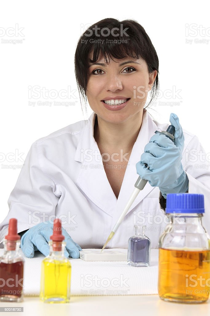 Friendly scientist, researcher, medical technician royalty-free stock photo