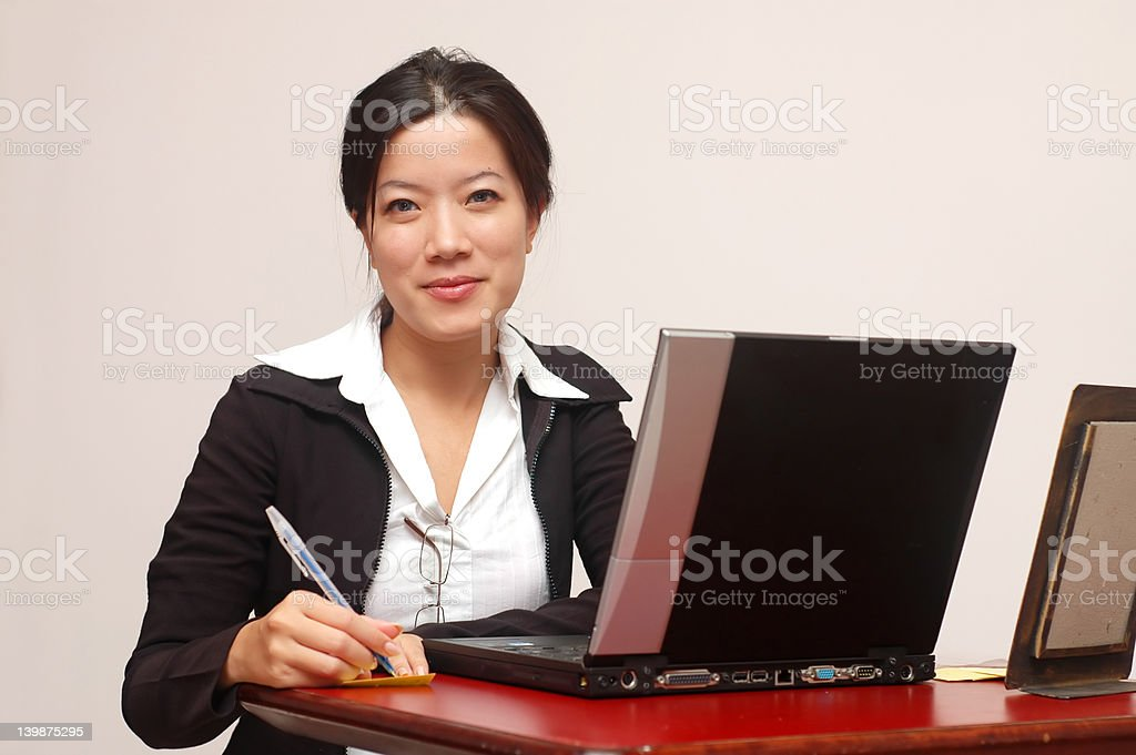 Friendly secretary royalty-free stock photo