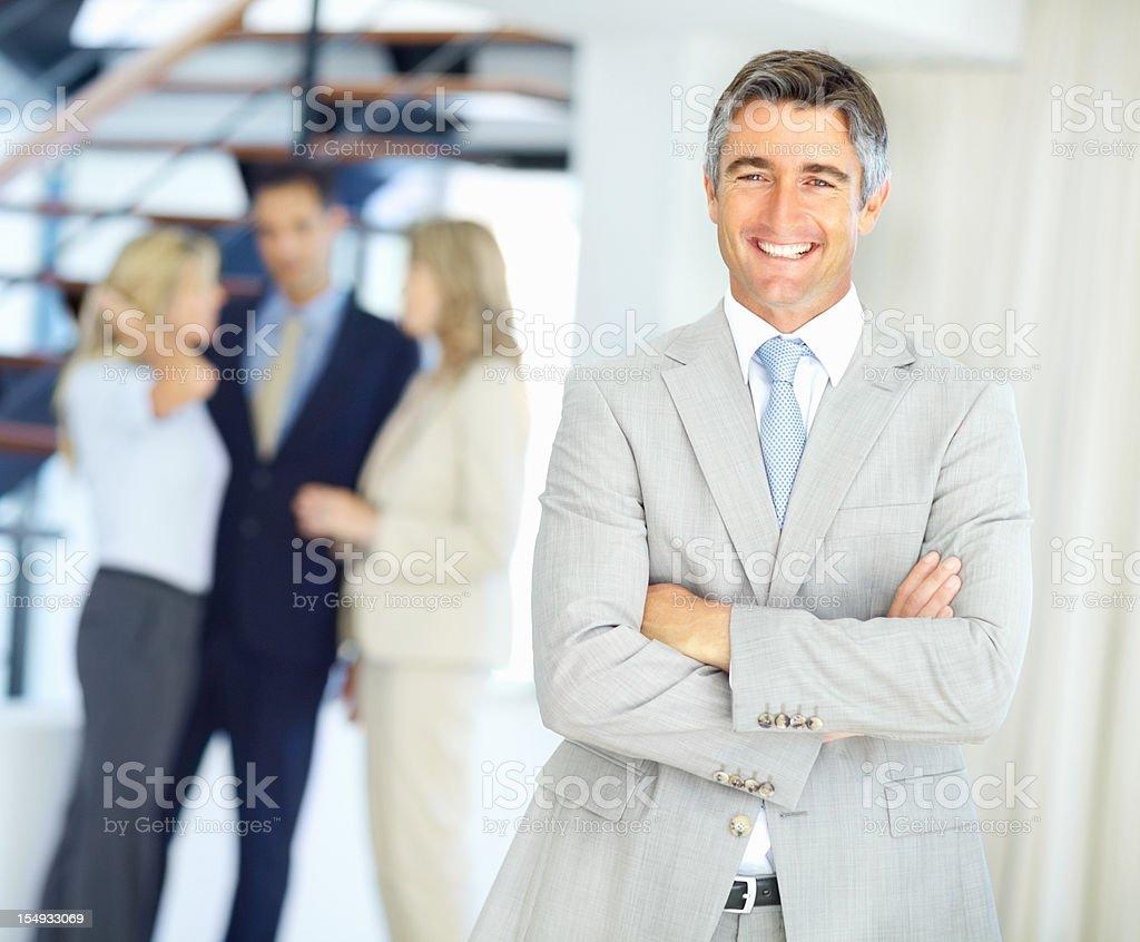 Friendly senior executive royalty-free stock photo