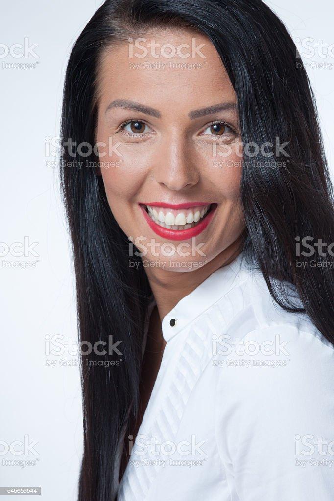 Friendly senior manager stock photo