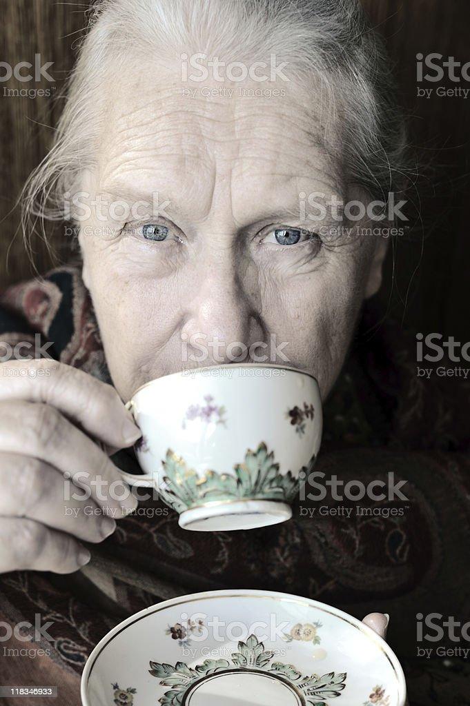Friendly senior woman royalty-free stock photo
