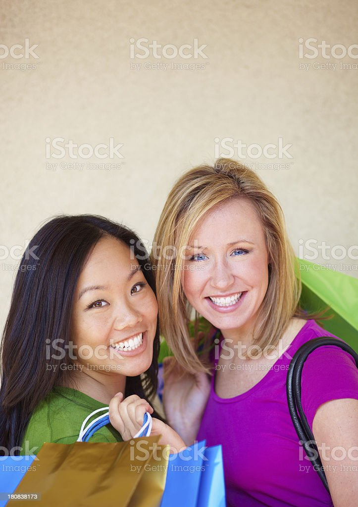 Friendly shoppers royalty-free stock photo