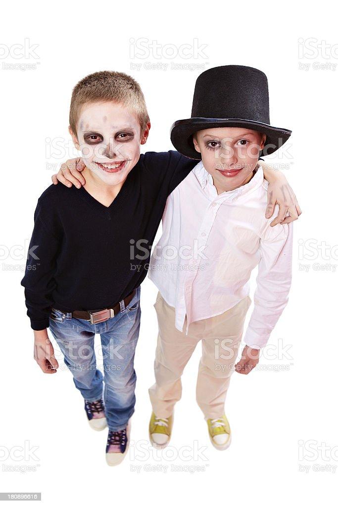 Friendly siblings stock photo