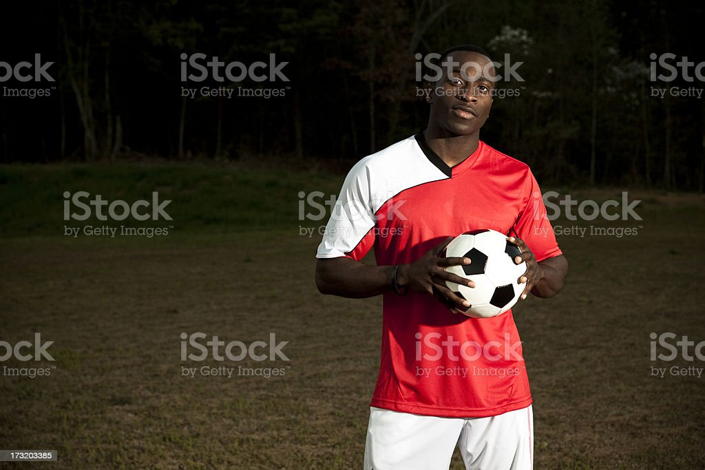 friendly soccer player royalty-free stock photo