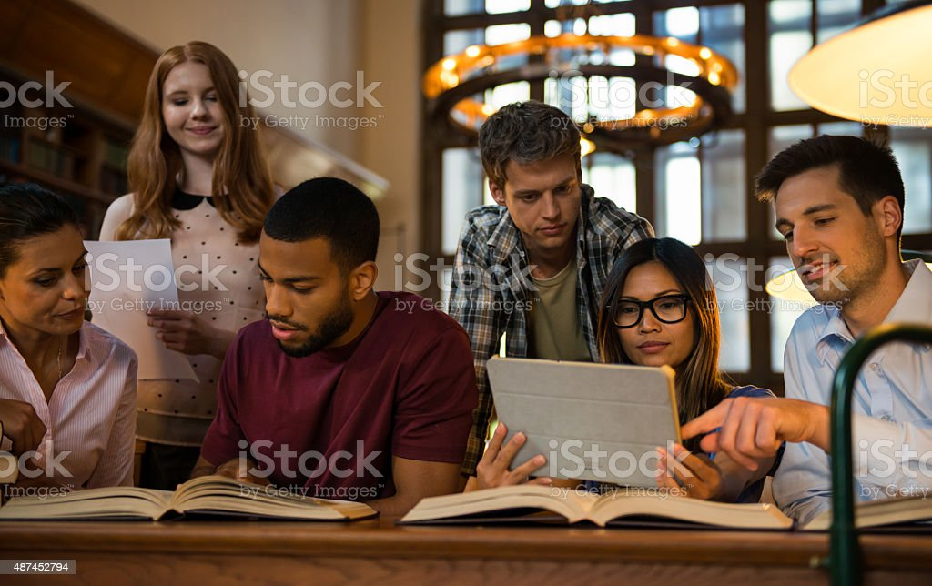 Friendly Students stock photo