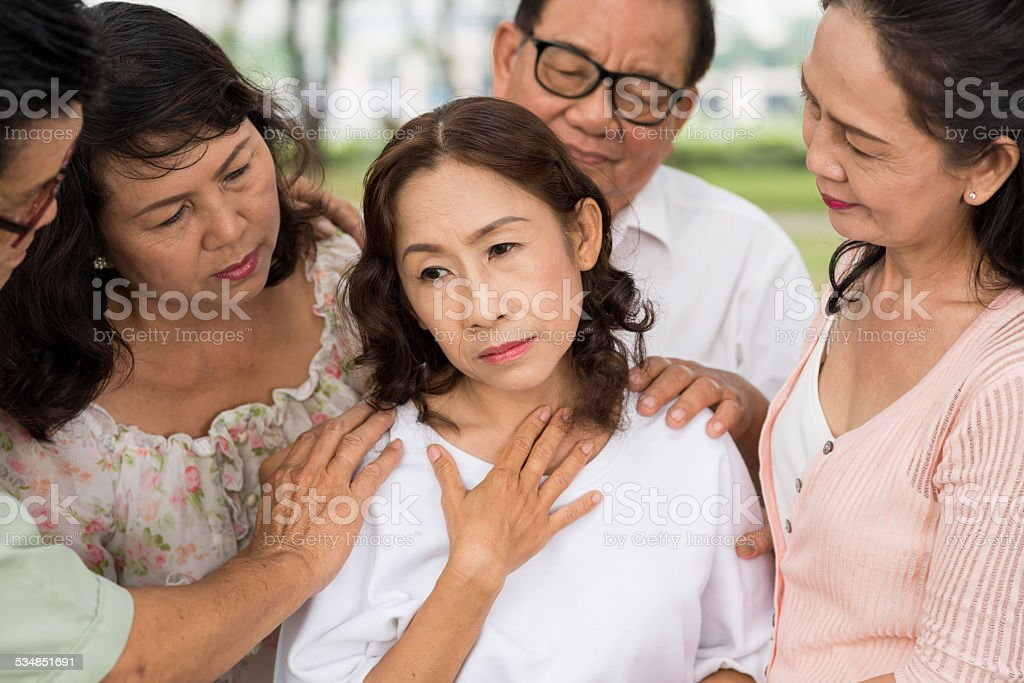 Friendly support stock photo