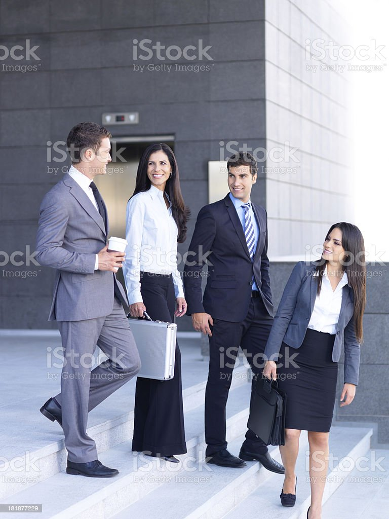Friendly team of business people royalty-free stock photo