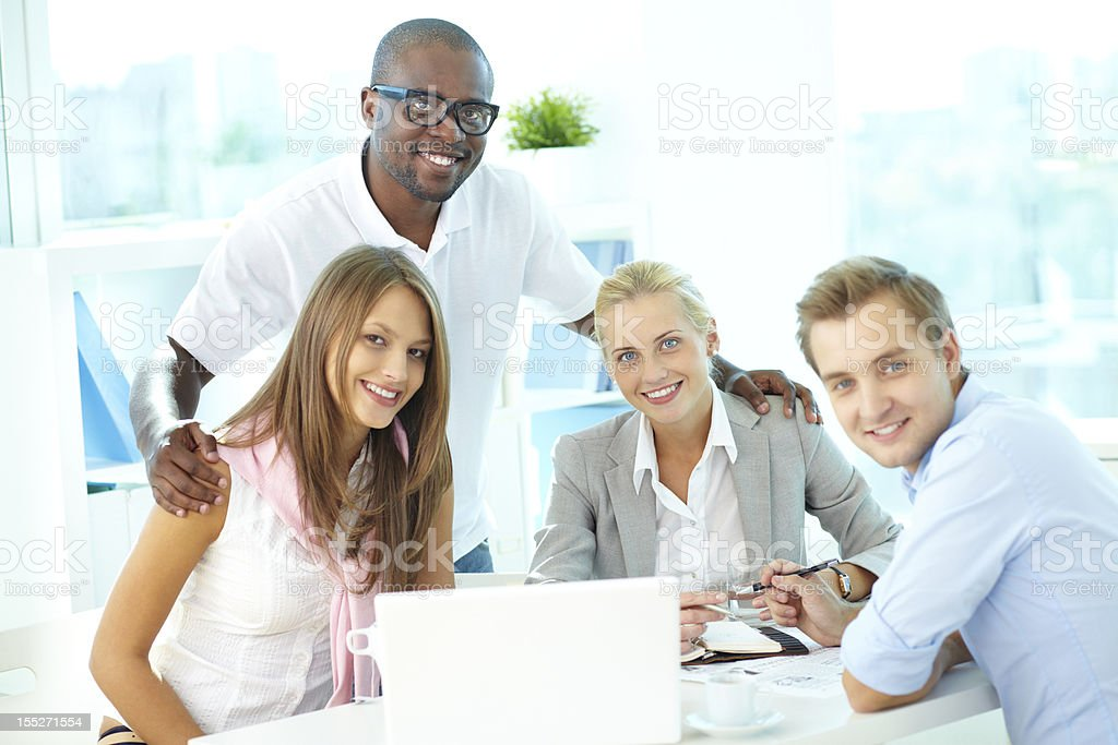 Friendly team royalty-free stock photo