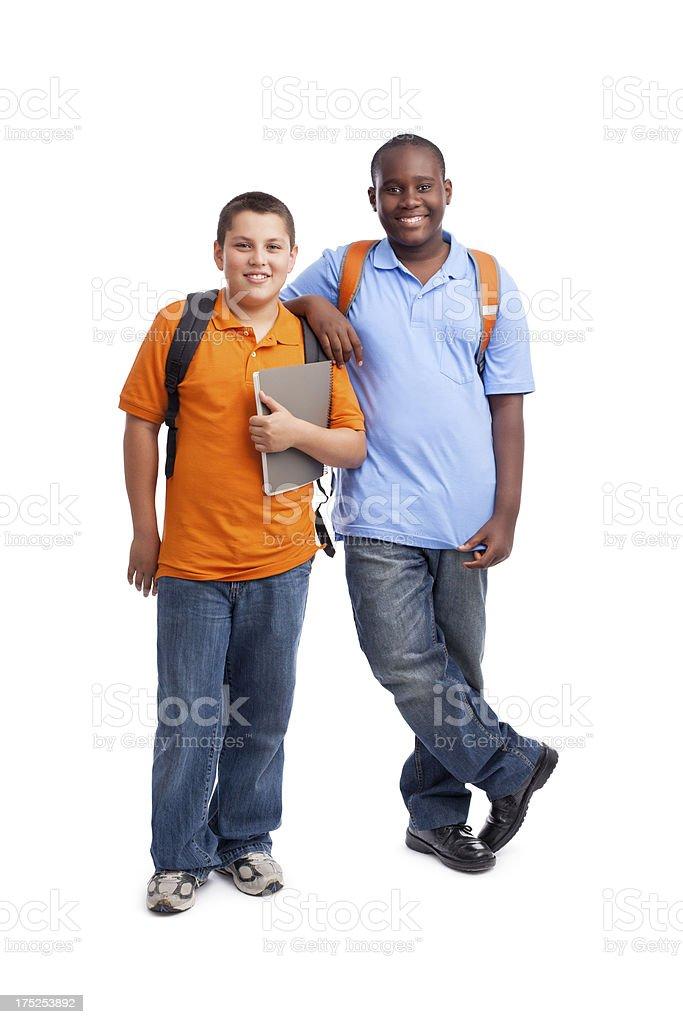 Friendly teenage students royalty-free stock photo
