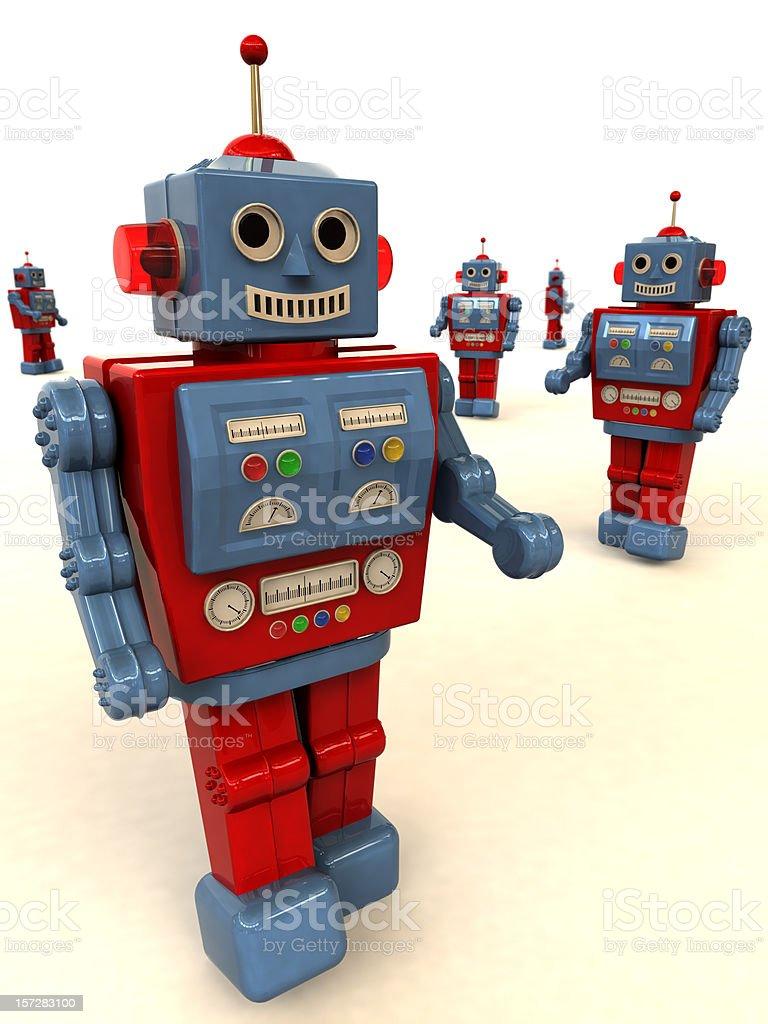 Friendly Toy Robots stock photo