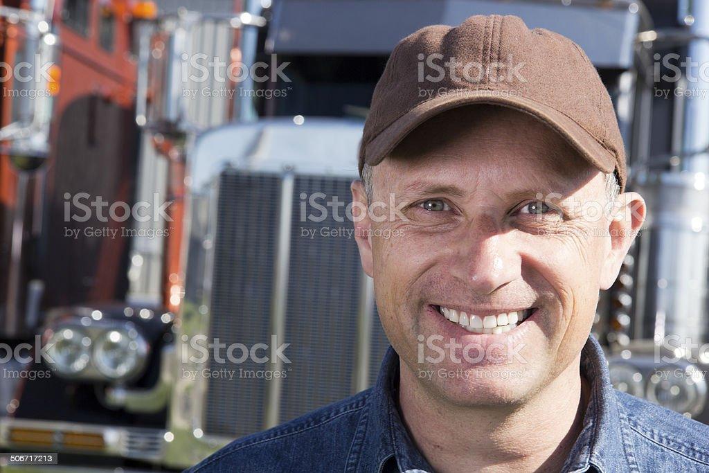 Friendly Truck Driver stock photo