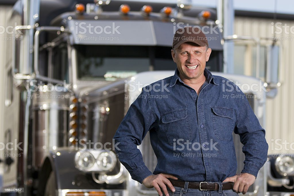 Friendly Trucking royalty-free stock photo