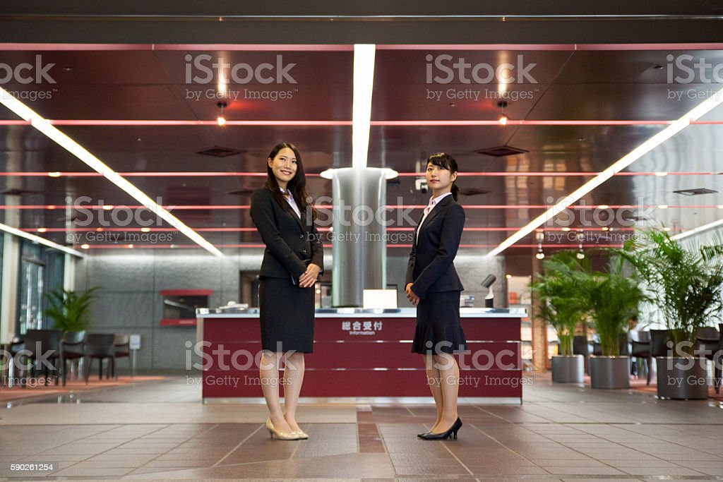 Friendly welcoming for my business travels at hotel stock photo